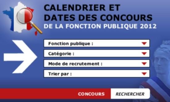 Calendrier 2013 des Concours Fonction Publique de l'état